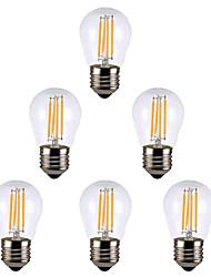 Недорогие -6шт 4 W LED лампы накаливания 300 lm E14 E26 / E27 G45 4 Светодиодные бусины Тёплый белый Белый 220 V