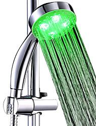Недорогие -3 цвета светодиодная насадка для душа ручная ванна спринклерной воды свечение светодиодная верхняя насадка для душа датчик температуры насадка для душа