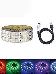 Недорогие -Loende USB DC 5 В 5 м светодиодные ленты 5050 RGB ленты ТВ фоновое освещение DIY домашний декоративный светильник с мини-3 комплект контроллера