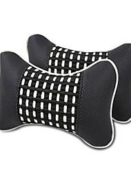 Недорогие -2 шт. Автомобиль подушка шеи простой случайный дышащий авто подушка отдыха удобные мягкие подушки