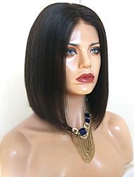 Недорогие -Парики из искусственных волос Естественные прямые Стиль Стрижка боб Без шапочки-основы Парик Черный Искусственные волосы 38~42 дюймовый Жен. Новое поступление Черный Парик Средняя длина / Да