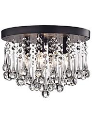 Недорогие -хрустальный потолочный светильник современные простые люстры скрытого монтажа мини подвесной светильник 4 лампы для прихожей потолочные светильники круглые черные
