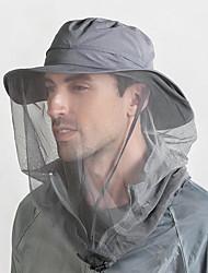 Недорогие -Шляпа для туризма и прогулок Москитная сетка шляпа 1 ед. Компактность Защита от комаров Защита от излучения Удобный Сплошной цвет Нейлон Осень для Муж. Жен. / Зима