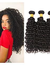 Недорогие -3 Связки Бразильские волосы Kinky Curly человеческие волосы Remy Человека ткет Волосы 8-28 дюймовый Ткет человеческих волос Расширения человеческих волос / 10A / Кудрявый вьющиеся