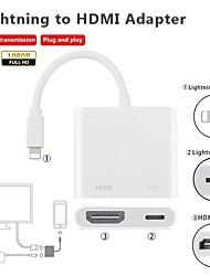 Недорогие -HDMI Адаптер От 1 до 2 / 1080P TPE Адаптер USB-кабеля Назначение iPad / iPhone