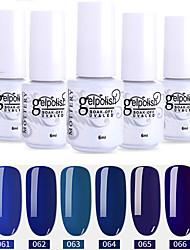 Недорогие -лак для ногтей 6 шт. цвет 61-66 xyp soak-off uv / led gel лак для ногтей сплошной цвет лак для ногтей наборы