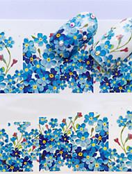 levne -1 pcs Nálepky Květinová řada nail art manikúra pedikúra Mini styl / Bezpečnost / Ergonomický design stylové / Jednoduchý