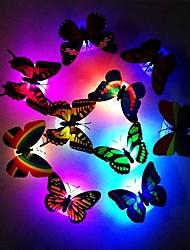 Недорогие -Мода 7-цветная смена милая бабочка светодиодный ночник домашнего декора комнаты настенный декор 1 шт.