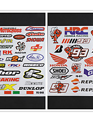 Недорогие -2 комплекта светоотражающий мотоцикл боковой полосы велосипедный шлем стикер стайлинга автомобилей виниловые наклейки