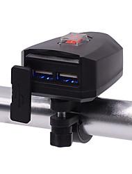 Недорогие -мотоцикл зарядное устройство мобильного телефона водонепроницаемый двойной usb электрическое зарядное устройство с переключателем 10v-80v