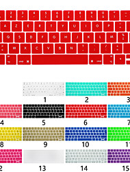 Недорогие -Европейская версия французской клавиатуры клавиатуры Apple, ноутбук клавиатура защитная пленка для MacBook Air Pro Retina 11/12/13/15 дюймов сплошной цвет силикона