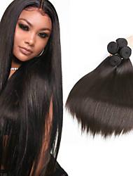 voordelige -6 bundels Peruaans haar Recht 100% Remy haarweefselbundels Menselijk haar weeft Bundle Hair Een Pack Solution 8-28inch Natuurlijke Kleur Menselijk haar weeft Geurvrij Zacht Cool Extensions van echt