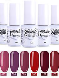 economico -6 pz colore 97-102 xyp soak-off uv / led smalto per unghie colore solido lacca per unghie set