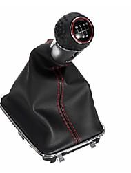 Недорогие -Кожаный рычаг переключения передач с крышкой багажника 5-ступенчатая ручка для VW Golf MK7 GTI 2013-2017