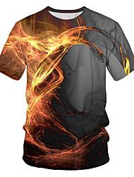 povoljno -Majica s rukavima Muškarci Ležerno / za svaki dan Geometrijski oblici Sive boje US42 / UK42 / EU50