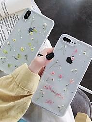 Недорогие -Кейс для Назначение Apple iPhone XS / iPhone XR / iPhone XS Max Защита от удара / Прозрачный / С узором Кейс на заднюю панель Цветы ТПУ