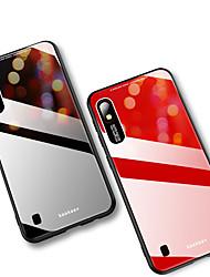 Недорогие -Кейс для Назначение SSamsung Galaxy Galaxy A10 (2019) / Galaxy A30 (2019) / Galaxy A50 (2019) Зеркальная поверхность Кейс на заднюю панель Однотонный Твердый Закаленное стекло
