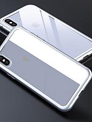 Недорогие -чехол для яблока iphone 6 / iphone xs max прозрачная задняя крышка сплошное цветное закаленное стекло для iphone 6 / iphone 6s / iphone 6s plus
