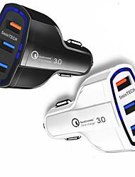 Недорогие -быстрое быстрое автомобильное зарядное устройство (3 порта) USB (16 Вт / 5912 В / 3.2a) для Android Iphone