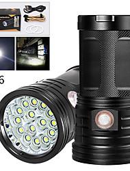 Недорогие -XM15 Светодиодные фонари Светодиодная лампа LED 15 излучатели 12000 lm Руководство 3 Режим освещения с USB кабелем Водонепроницаемый Для профессионалов Анти-шоковая защита