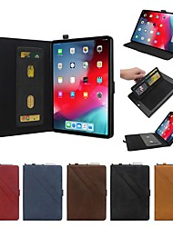 cheap -Case For Apple iPad Pro 11'' / iPad New Air(2019) Flip / with Stand / Shockproof Full Body Cases Solid Colored Hard Genuine Leather for iPad Pro 10.5 / iPad Pro 11'' / iPad New Air(2019)