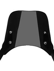 Недорогие -черное ветровое стекло для 5-дюймовых 7-дюймовых круглых фар мотоцикла универсальный
