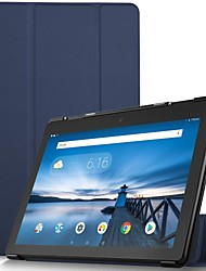 Недорогие -Кейс для Назначение Lenovo Lenovo Tab E10 (TB-X104) Защита от удара / Магнитный / Авто Режим сна / Пробуждение Чехол Однотонный Твердый Кожа PU