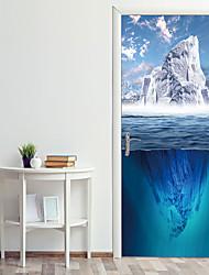 Недорогие -наклейки на двери морского ледника декоративные наклейки