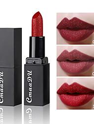 abordables -marca cmaadu diamond mate lipstick duradera impermeable no decolorante flash lip gloss gloss lip makeup
