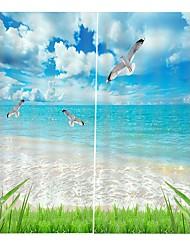 Недорогие -современная 3d печать высокой четкости пейзаж карта украшения дома навес водонепроницаемый плесени водонепроницаемый занавески для ванной офис спальня звукоизоляционные пыленепроницаемый занавес