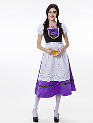 Недорогие -Октоберфест Широкая юбка в сборку Trachtenkleider Жен. Платье баварский Костюм Светло-лиловый