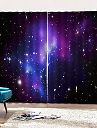 Недорогие -Горячая распродажа плотные плотные шторы водонепроницаемые формовочные шторы для ванной комнаты тепло / звукоизоляция для гостиной / гостиной с крючком / кольцами