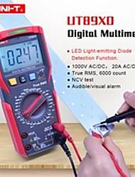 Недорогие -Цифровой мультиметр тестер Uni-T UT89XD AC Вольтметр постоянного тока Амперметр Емкость Частота тестер сопротивления со светодиодным тестированием