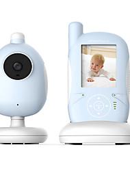 Недорогие -2,4-дюймовая беспроводная сенсорная кнопка для устройства по уходу за ребенком поддерживает двустороннюю связь, ночной свет, отображение музыки и температуры