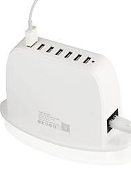 Недорогие -Газета для быстрой зарядки 5v9a sr-1813w7 Зарядное устройство для 7-портового USB-накопителя с интеллектуальной идентификацией / с ЖК-дисплеем для зарядки