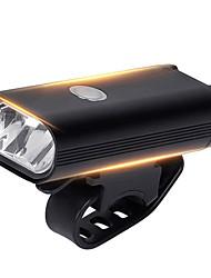 Недорогие -Светодиодная лампа Велосипедные фары Передняя фара для велосипеда Велоспорт Водонепроницаемый Супер яркий Большой угол 400 lm USB Перезаряжаемый Белый Велосипедный спорт