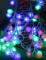 Недорогие -2,5м Гирлянды 20 светодиоды Разные цвета Новый дизайн / Для вечеринок / Декоративная Аккумуляторы AA 1шт
