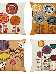 Недорогие -набор из 4 ручных росписей цветочного белья квадратные декоративные наволочки дивана чехлы на подушки 18x18