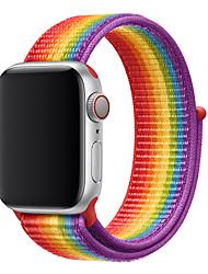 Недорогие -Спортивная петля для Apple Watch Band Series 4 3 2 1 Светоотражающий ремешок для iwatch из двухслойного дышащего тканого нейлона