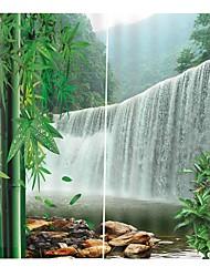 Недорогие -Китайский стиль высокой точности материала художественные шторы полное затенение водонепроницаемый влагостойкие шторы для душа утолщенные чистый полиэстер бытовой туалет фон шторы