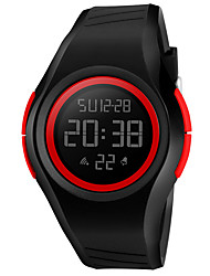 Недорогие -Skmei унисекс многофункциональный 50м водонепроницаемый световой хронограф времени будильник pu ремешок электронные часы
