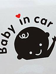 Недорогие -ребенок в машине письма знак безопасности назад автомобиль заднее стекло наклейка виниловая наклейка