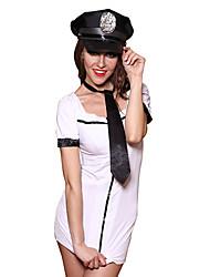 ราคาถูก -สำหรับผู้หญิง Police ผู้ใหญ่ ชุดฟอร์ม คอสเพลย์และคอสตูม ชุดเดรส หมวก ผูก