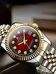 Недорогие -Муж. Нарядные часы Кварцевый Формальный Стильные Нержавеющая сталь Серебристый металл / Золотистый 30 m Защита от влаги Календарь Повседневные часы Аналоговый На каждый день Мода -  / Один год