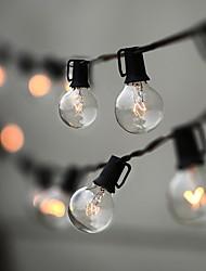 Недорогие -7.62m 25ft светодиодные струнные светильники 25 небьющиеся светодиодные лампы глобус атмосфера крытый наружное освещение для патио сад задний двор бистро беседка беседка беседка декор