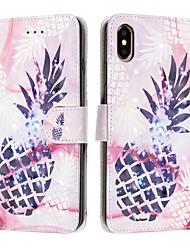 Недорогие -Кейс для Назначение Apple iPhone XS / iPhone XR / iPhone XS Max Кошелек / Бумажник для карт / Защита от удара Чехол Продукты питания Кожа PU
