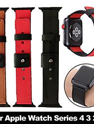 Недорогие -3-х цветная горячая распродажа кожаный ремешок для часов для apple watch band series 4/3/2/1 спортивный браслет 44мм / 40мм / 42мм / 38мм ремешок