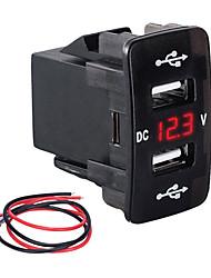 Недорогие -Автомобильное зарядное устройство слот типа Dual USB 3.1a многофункциональное быстрое зарядное устройство с измерителем напряжения для автомобилей для моделей Honda зеленый свет