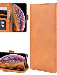 Недорогие -чехол для apple iphone xs / iphone xr / iphone xs max кошелек / держатель карты / флип чехлы для тела сплошная цветная кожа pu для iphone x / iphone 8 / iphone 8 plus / iphone 7 / iphone 7 plus