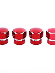 Недорогие -4 шт. Универсальный красочный автомобильный колпачок клапана шины гексагональной колеса колпачки клапана шины для грузовика велосипед мотоцикла atv